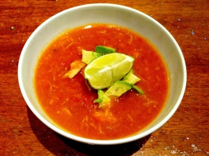 tortilla soup, hold the tortillas